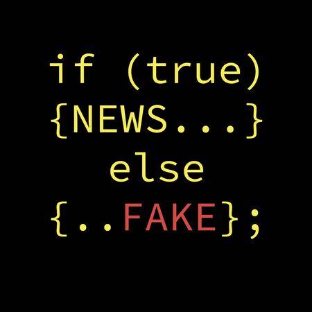 Fake news concept design. Element for your design. Vector illustration.