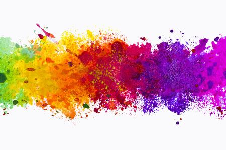 arco iris: Resumen de antecedentes art�sticos splash acuarela