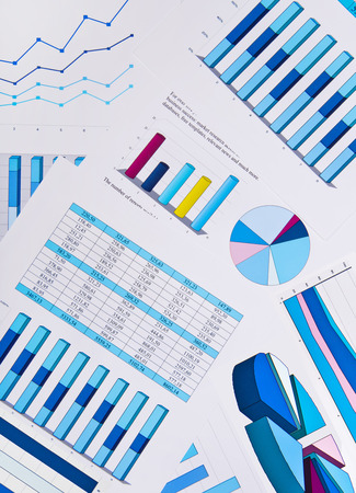 business background: Charts and graphs, business background