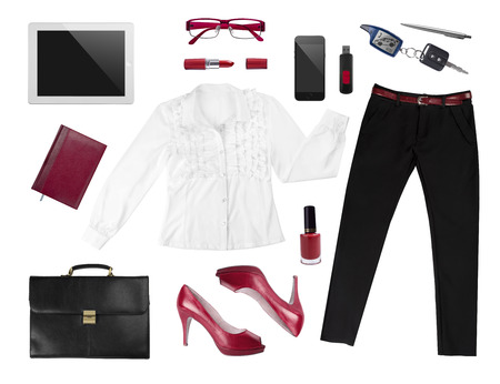 Collection of business womans elegant accesories Banco de Imagens