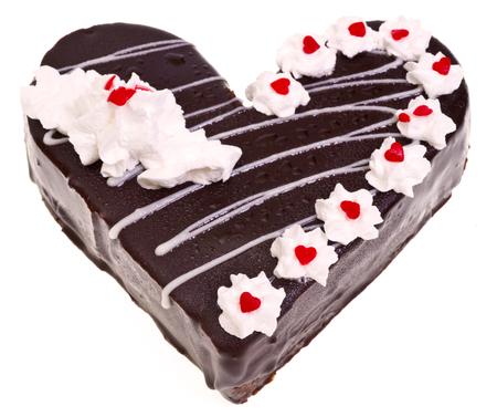 heart shaped: Heart shaped cake