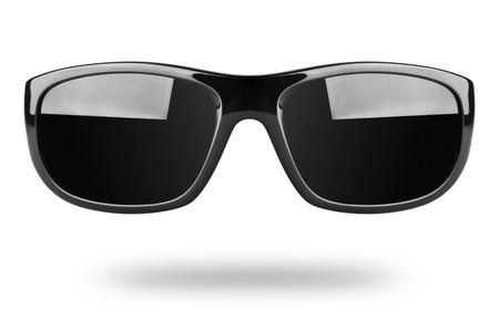 sunglasses reflection: Sunglasses isolated on white background Stock Photo