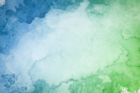 Abstract artistic green blue watercolor background