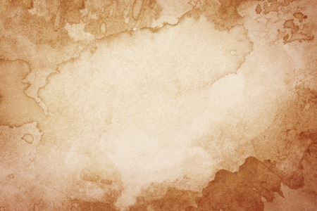 Abstract artistieke bruine aquarel achtergrond Stockfoto