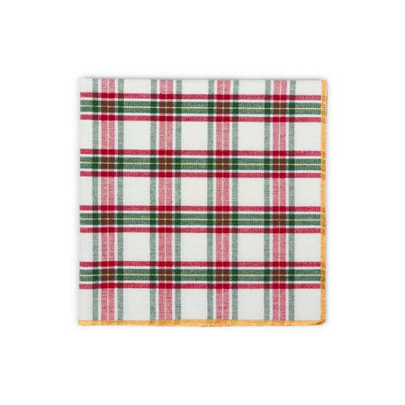 Checkered kitchen napkin isolated on white background