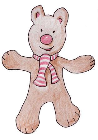 Funny teddy bear Stock Photo