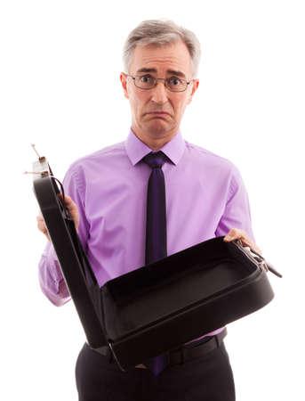 freaked: Adult sad businessman lose money