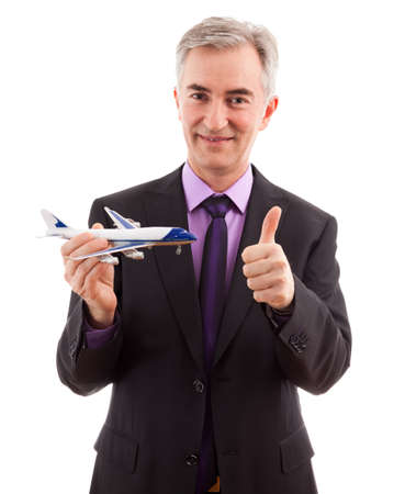 Success air company man holding plane photo