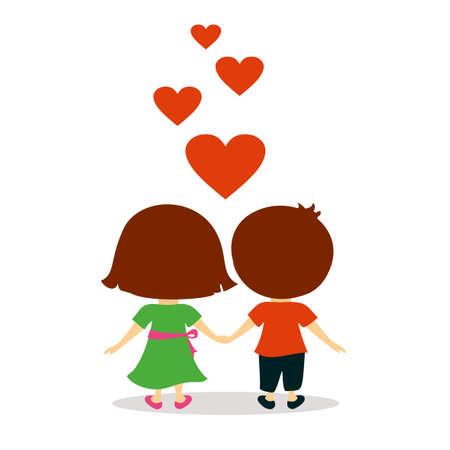 valentine day: Lovely couple valentine day concept Illustration