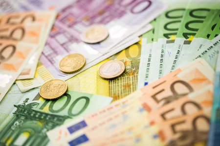 Euro Money Banknotes as background