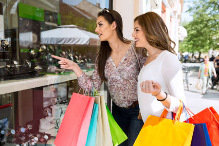 fiend: Showing to best fiend perfect watch, shopping time Stock Photo