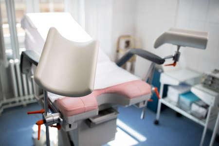 婦人科クリニック検査、診断機器、美しい白のオフィス。
