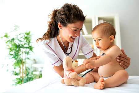 Teddy bear diversion trick is always good to calm a child during a medical examination