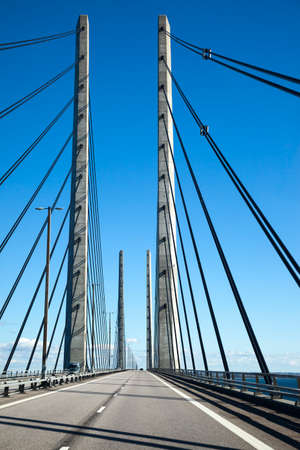 longest: Longest bridge in Europe, between Sweden and Denmark Photo taken on  september 26th, 2013 Stock Photo