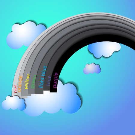 springtime: rainbow Illustration
