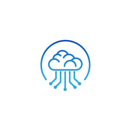 Cloud Tech Logo Design Template