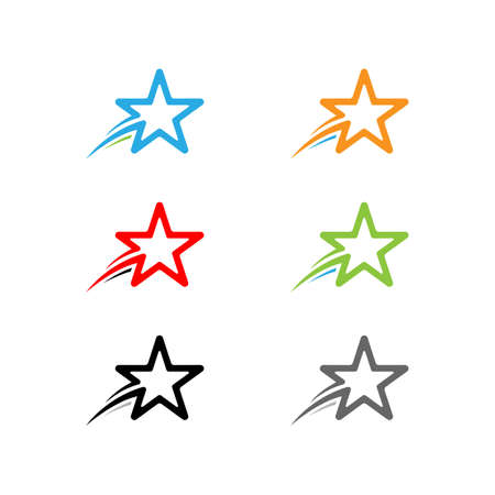 Creative Star Logo Design Template Ilustração
