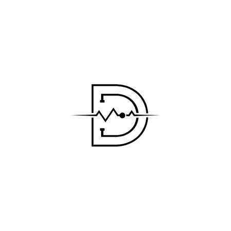 Letter D for Medical Pharmacy Logo Design Template
