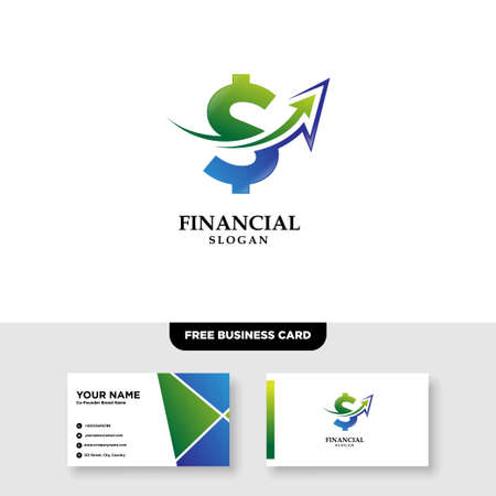 Letter S Finance Logo and Business Card Template