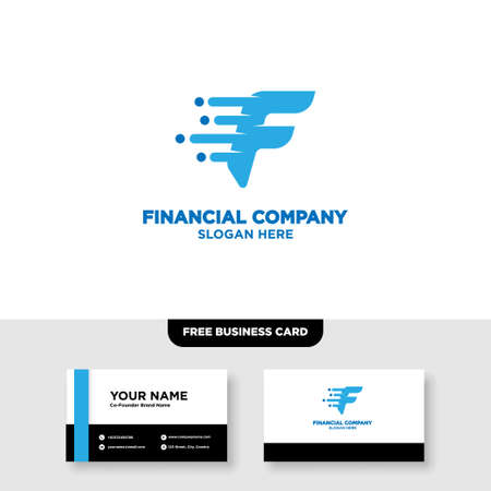 Letter F Finance Logo and Business Card Template