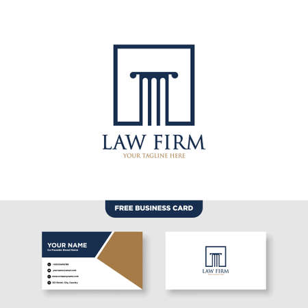 Law Firm and Attorney Logo and Business Card Template Logo