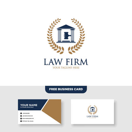 Law Firm and Attorney Logo and Business Card Template