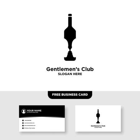 Gentlemen Bar Logo and Business Card Template