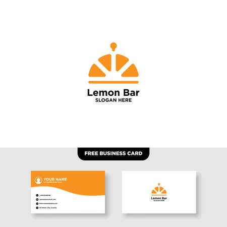 Fresh Juice Bar Logo and Business Card Template