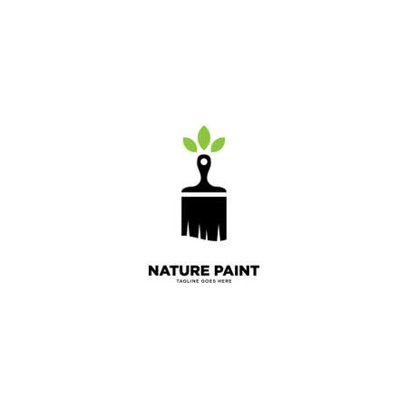 Eco Paint Home logo template vector illustration - Vector