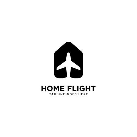home flight logo simple line logo template vector illustration - Vector