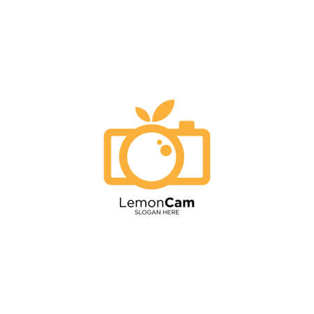 Fruit Cam Logo Design Template Vector Illustration