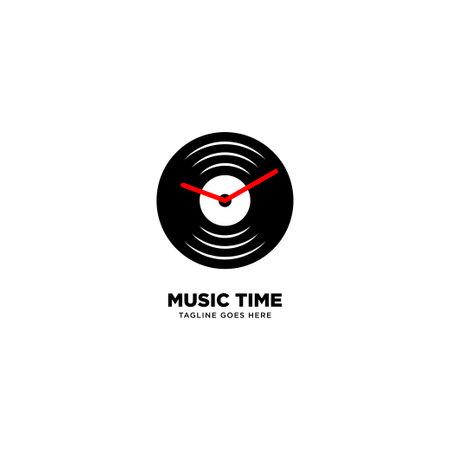 Music Time logo template, vector illustration icon element - Vector Illustration