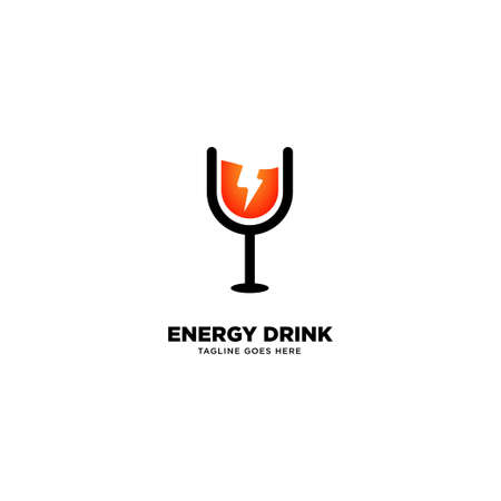 Energy Drink logo template, vector illustration icon element - Vector