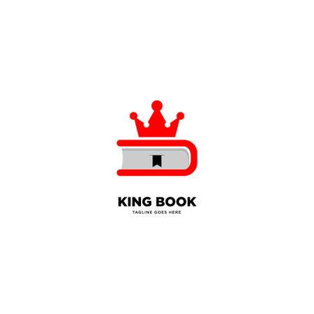 King Book logo template, vector illustration icon element - Vector