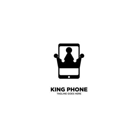 King Phone logo template, vector illustration - Vector