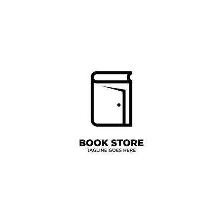 Book Store logo template, vector illustration - Vector