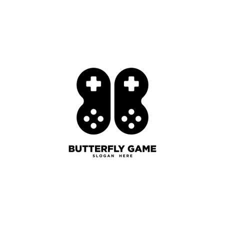 Butterfly Game logo template, vector illustration - Vector