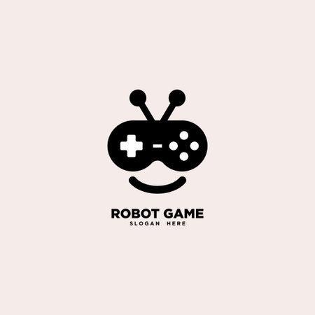 Robot Game logo template, vector illustration - Vector