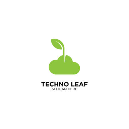Techno Leaf Logo Design Template