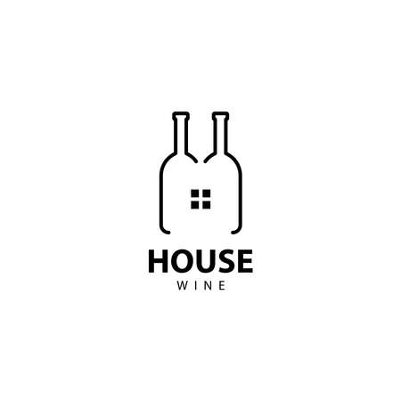 House Wine logo vector icon illustration