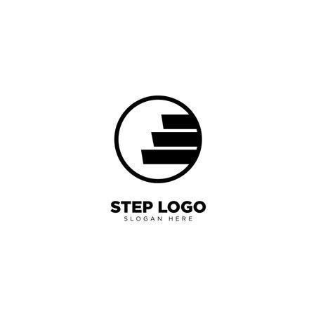 Step Logo Design Outline Monoline