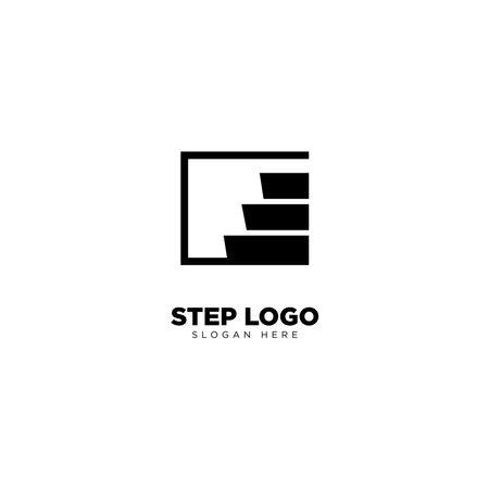 Step Logo Design Outline Monoline Logo
