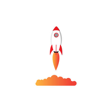 Rocket graphic design template vector illustration