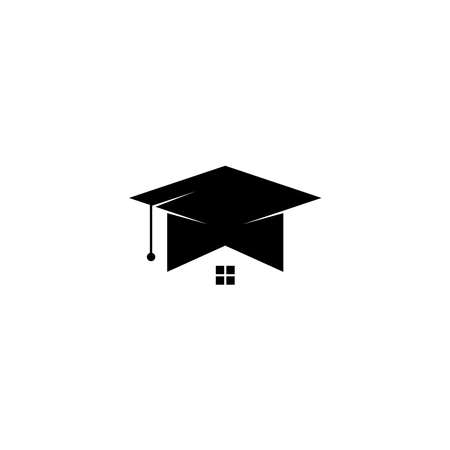 House School Education icon graphic design template simple illustration