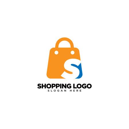 Letter S on Shop Logo Design