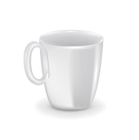 porcelain white cupmug isolated on white