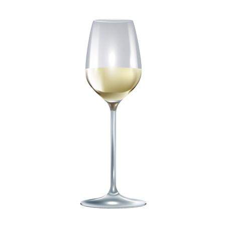winetasting: single wine glass isolated on white background