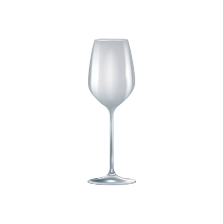 winetasting: single empty glass isolated on white background