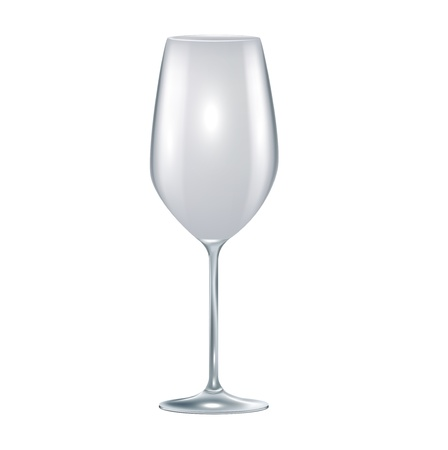 single empty glass isolated on white background