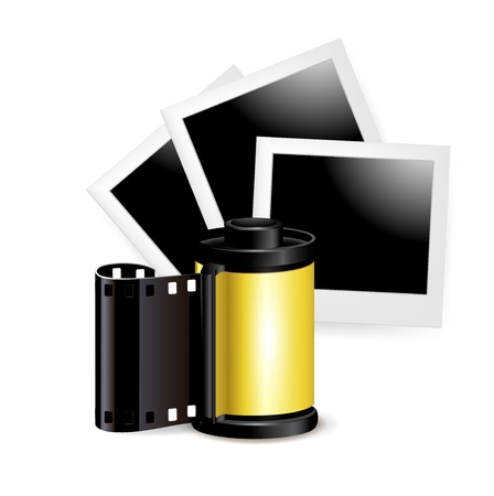 photos and film role isolated on white Stock Vector - 20227245